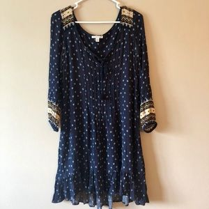 Navy Blue Quarter Sleeve Dress from American Eagle